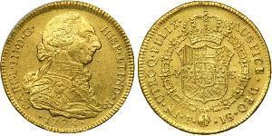 4 Escudo Vice-royauté de Nouvelle-Grenade (1717 - 1819) Or Charles III d