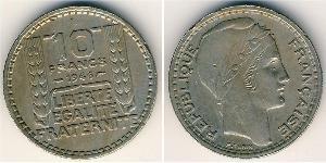 10 Франк Четвёртая французская республика (1946-1958) Никель/Медь