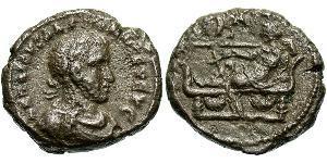 1 Тетрадрахма Римская империя (27BC-395) Бронза Галлиен (218-268)