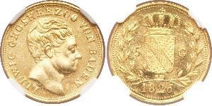 5 Gulden Grand Duchy of Baden (1806-1918) Oro Luigi I di Baden(1763 - 1830)