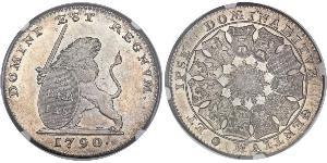 3 Florin Países Bajos Austríacos (1713-1795) Plata