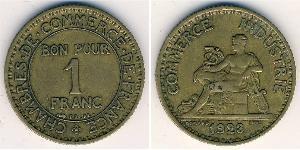 1 Franc French Third Republic (1870-1940)  Bronze