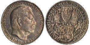 5 Mark Repubblica di Weimar (1918-1933) Argento Paul von Hindenburg