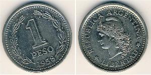 1 Peso Argentinien (1861 - ) Nickel/Stahl