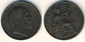 1 Farthing 英国 銅 爱德华七世 (1841-1910)