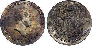 5 Злотый Царство Польское (1815-1915) Серебро Александр I (1777-1825)
