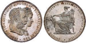 2 Florin / 2 Gulden Kingdom of Hungary (1000-1918) / Austrian Empire (1804-1867) Silver Franz Joseph I (1830 - 1916)