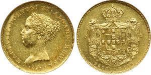2500 Рейс Королівство Португалія (1139-1910) Золото Мария II королева Португалії (1819-1853)