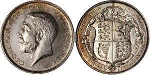1/2 Crown Vereinigtes Königreich von Großbritannien und Irland (1801-1922) Silber George V (1865-1936)