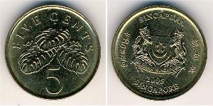 5 Cent Singapore Ottone