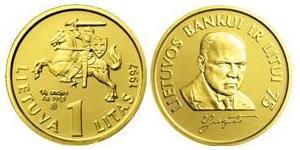 1 Litas Lituanie (1991 - ) Or