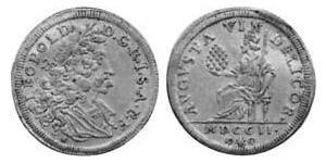 1 Дукат Аугсбург (1276 - 1803) Золото Леопольд I Габсбург(1640-1705)