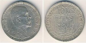 10 Krone Cecoslovacchia  (1918-1992) Argento