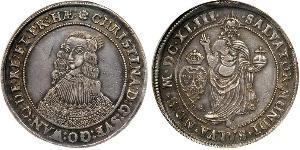 1 Riksdaler Швеція Срібло Христина (королева Швеції) (1626 - 1689)