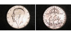 2 Krone Sweden Silver Gustaf V of Sweden (1858 - 1950)