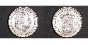 1 Gulden Niederländische Antillen (1954 – 2010) Silber Juliana of the Netherlands (1909 – 2004)