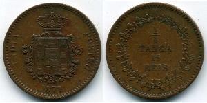 15 Reis / 1/4 Tanga Portugiesisch-Indien (1510-1961) Kupfer