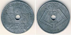 25 Centime Belgium Zinc