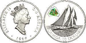 20 Dollar Brésil Argent Elizabeth II (1926-)