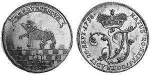 1/3 Thaler Anhalt-Bernburg (1603 - 1863) Plata Victor Frederick, Prince of Anhalt-Bernburg (1700 – 1765)