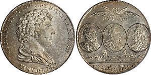 1 Riksdaler United Kingdoms of Sweden and Norway (1814-1905) Plata Carlos XIV Juan de Suecia (1763-1844)