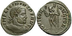 1 Follis Impero romano (27BC-395) Bronzo Licinio I (265-324)