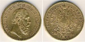 20 Марка Велике герцогство Баден (1806-1918) Золото