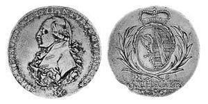 5 Thaler Anhalt-Bernburg (1603 - 1863) Oro Alexius Frederick Christian, Duke of Anhalt-Bernburg (1767 – 1834)