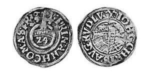 1/24 Thaler Anhalt (1212 - 1806) Argento
