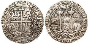 8 Real Bolivia / Virreinato del Perú (1542 - 1824) Plata Felipe IV de España (1605 -1665)