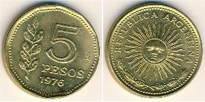 5 Peso Argentinien (1861 - ) Messing