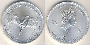 5000 Kwacha Zambia (1964 - ) Plata Isabel II (1926-)