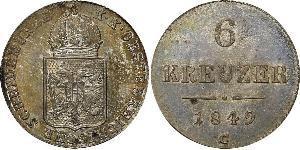 6 Kreuzer Austrian Empire (1804-1867) Silver