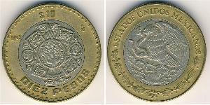 10 Песо Мексиканські Сполучені Штати (1867 - ) Біметал
