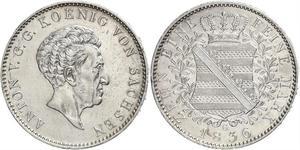 1 Thaler Reino de Sajonia (1806 - 1918) Plata