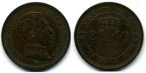 2 Сентимо Королевство Испания (1874 - 1931)