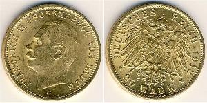 20 Mark 巴登大公國 (1806 - 1918) 金