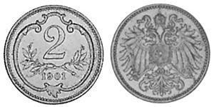 2 Heller Autriche-Hongrie (1867-1918) Bronze Franz Joseph I (1830 - 1916)