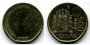 500 Peseta Royaume d'Espagne (1976 - )