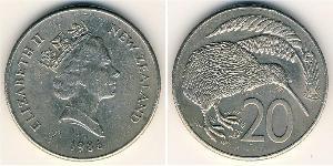 20 Cent Nuova Zelanda Rame/Nichel