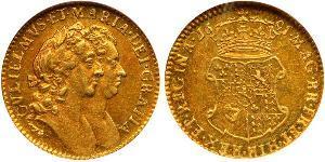 1/2 Гінея Королівство Англія (927-1649,1660-1707) Золото Вільгельм III (1650-1702)