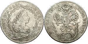 20 Kreuzer Österreich Billon Silber