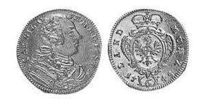 6 Kreuzer Principality of Ansbach (1398–1792) 銀 Charles William Frederick, Margrave of Brandenburg-Ansbach (1712 – 1757)