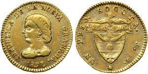 1 Peso Republik Neugranada (1831–1858) Gold