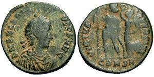 1 Follis /  AE4 Imperio bizantino (330-1453) Bronce Arcadio (377-408)