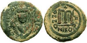 1 Follis Byzantinisches Reich (330-1453) Bronze Tiberios II (535-582)