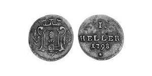 1 Heller Augsburg (1276 - 1803) Kupfer