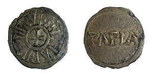 1 Dinaro Reino de Francia (843-1791) Plata Lotario I (795 -855)