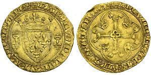 1 Экю Королевство Франция (843-1791) Золото Карл VII король Франции (1403 - 1461)