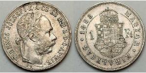 1 Forint Österreich-Ungarn (1867-1918)  Franz Joseph I (1830 - 1916)